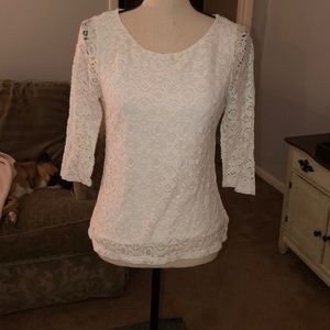 Really cute all lace, Banana Republic top.